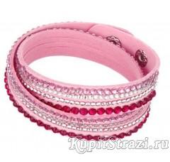 Купить кожаный браслет со стразами № 10 длиной 39-40 см