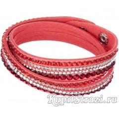 Купить кожаный браслет со стразами № 11 длиной 39-40 см