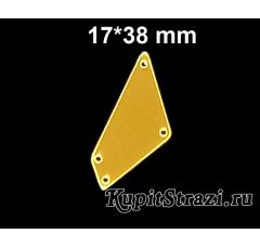 Форма P02 - 17*38 mm (золото) пришивные акриловые зеркала