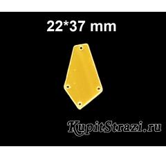 Форма P04 - 22*37 mm (золото) пришивные акриловые зеркала