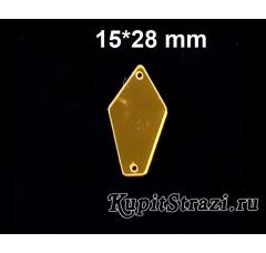 Форма P07 - 15*28 mm (золото) пришивные акриловые зеркала