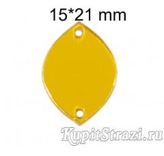 Форма P31 15*21 mm (золото) пришивные акриловые зеркала