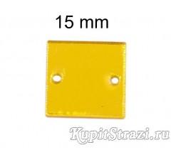 Форма P32 15*15 mm (золото) пришивные акриловые зеркала