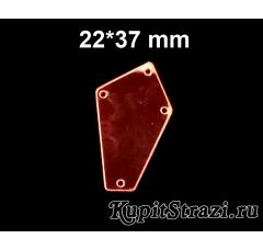 Форма P04 - 22*37 mm (красные, siam) пришивные акриловые зеркала