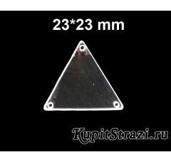 Форма P12 - 23*23 mm (серебро) пришивные акриловые зеркала (мягкие зеркала)