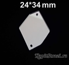 Форма P14 - 24*34 mm (серебро) пришивные акриловые зеркала (мягкие зеркала)
