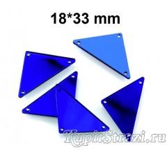 Форма P21 18*33 mm (синие, sapphire) пришивные акриловые зеркала (мягкие зеркала)