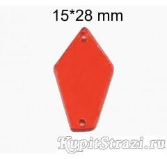 Форма P07 -15*28 mm (красные, siam) пришивные акриловые зеркала