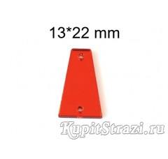Форма P15 -13*22 mm (красные, siam) пришивные акриловые зеркала