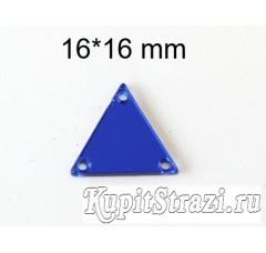 Форма P08 - 16*16 mm (синие, sapphire) пришивные акриловые зеркала (мягкие зеркала)