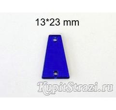 Форма P15 13*23  mm (синие, sapphire) пришивные акриловые зеркала (мягкие зеркала)