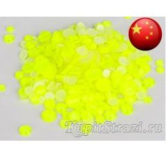 Стразы Neon citrine ss20 - желтые неоновые китайские стразы холодной фиксации