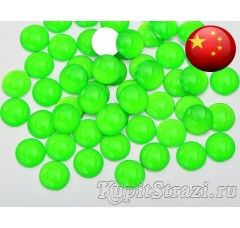 Стразы Neon emerald ss16 - зеленые неоновые китайские стразы холодной фиксации