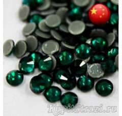 Термостразы Emerald ss12 - стеклянные китайские стразы горячей фиксации премиум качества