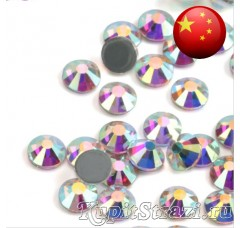 Термостразы Crystal AB ss6 горячей фиксации - стеклянные китайские термо-стразы премиум качества