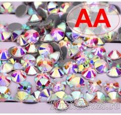 Термостразы Crystal AB ss20 качества АА горячей фиксации - стеклянные китайские термо-стразы премиум качества