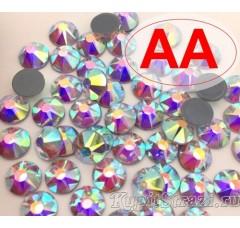 Термостразы Crystal AB ss16 качества АА огранки Xirius 2088 (звездочка) горячей фиксации - стеклянные китайские термо-стразы премиум качества
