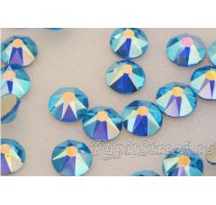 Стразы Capri blue AB ss20 огранки Xirius 2088 (звездочка) холодной фиксации - стеклянные китайские стразы премиум качества