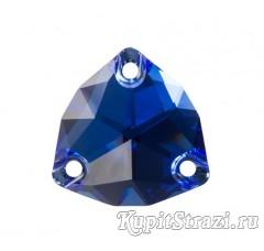Триллиант Sapphire - 16 мм - Пришивные стразы из Китая треугольной формы