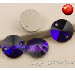 Rivoli Purple velvet - 10 мм. Круглые пришивные стразы