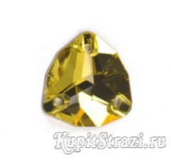 Пришивные китайские стразы треугольной формы Citrine (цитрин) - 16 мм
