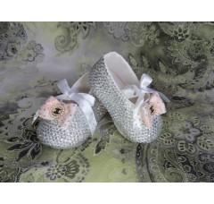 Обувь детская (пинетки) со стразами