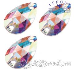 Капля Crystal AB - 12 мм - египетские пришивные стразы Asfour