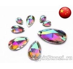 Капля Crystal AB - 12 мм - Пришивные стразы из Китая