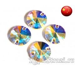 Rivoli Crystal AB - 10 мм - Круглые пришивные стразы из Китая