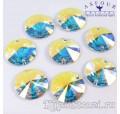 Rivoli Crystal AB - 10 мм. Круглые египетские пришивные стразы Asfour