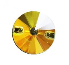 Круглые пришивные стразы Citine - 12 мм