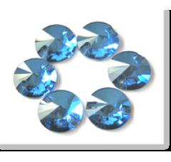 Rivoli Sapphire - 10 мм. Круглые пришивные стразы