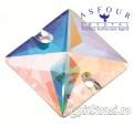Квадрат Crystal AB - 12 мм - египетские пришивные стразы Asfour