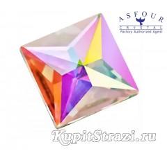 Квадрат Crystal AB - 14 мм - египетские клеевые стразы Asfour