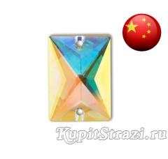 Прямоугольник Crystal AB - 13*18 мм - Пришивные стразы из Китая