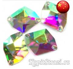 Cosmic Crystal AB - 17 мм - Китайские пришивные стразы неправильной формы космик