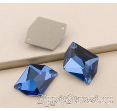 Неправильной формы (cosmic) Dark Sapphire - 21 мм - Пришивные стразы
