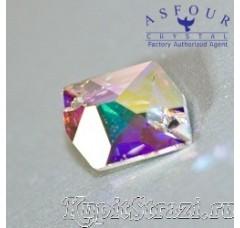 Пришивные стразы Asfour неправильной формы Crystal AB - 16 мм.