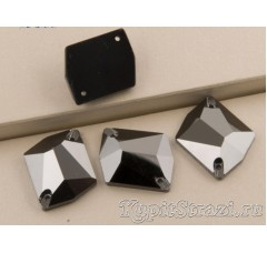 Неправильной формы (cosmic) Hematite - 21 мм - Пришивные стразы