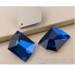 Неправильной формы (cosmic) Sapphire - 17 мм - Пришивные стразы