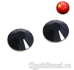 Стразы Jet Black ss10 холодной фиксации - стеклянные китайские стразы премиум качества
