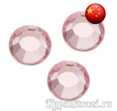Стразы Light Rose ss34 холодной фиксации - стеклянные китайские стразы премиум качества