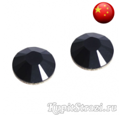 Стразы Jet Black ss16 холодной фиксации - стеклянные китайские стразы премиум качества