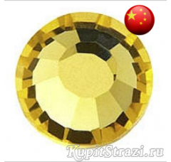 Стразы Citrine ss30 холодной фиксации - стеклянные китайские стразы премиум качества