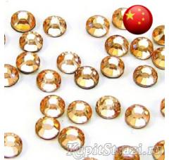 Стразы Peach ss16 холодной фиксации - стеклянные китайские стразы премиум качества