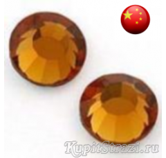 Стразы Topaz ss16 холодной фиксации - стеклянные китайские стразы премиум качества