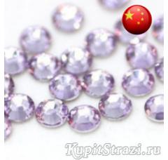 Стразы Violet ss10 холодной фиксации - стеклянные китайские стразы премиум качества