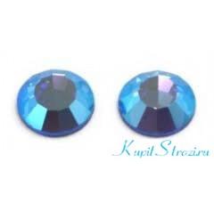 Стразы Light Sapphire AB ss16 - хрустальные корейские стразы премиум качества DMC+ Juwon