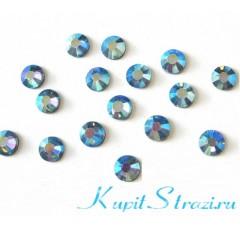 Купить хрустальные корейские стразы Light Sapphire AB ss16