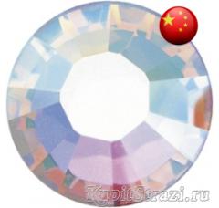 Стразы Crystal AB ss12 холодной фиксации - стеклянные китайские стразы премиум качества